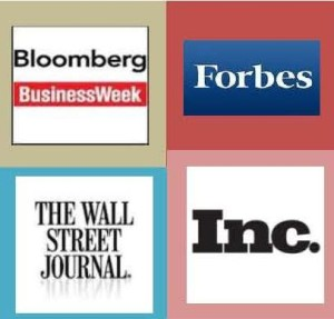 Book promotional targets like Bloomberg, Forbes, Wall Street Journal & Inc. for business book publicity.